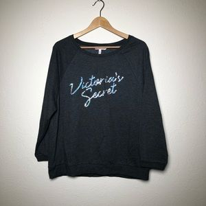 Victoria's Secret Charcoal Gray Sequin Sweatshirt